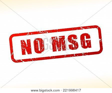 Illustration of no msg text buffered on white background