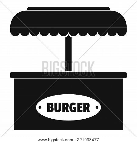 Burger selling icon. Simple illustration of burger selling vector icon for web.