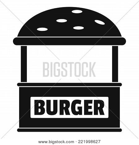 Burger trade icon. Simple illustration of burger trade vector icon for web.