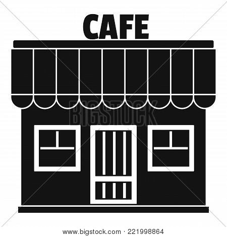 Cafe icon. Simple illustration of cafe vector icon for web.