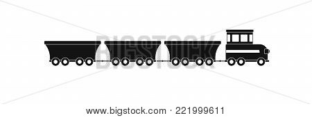 commercial train icon. Simple illustration of commercial train vector icon for web.