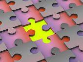 puzzle. 3d poster