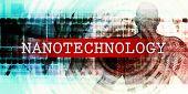 Nanotechnology Sector with Industrial Tech Concept Art 3d Render poster