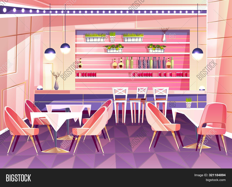 Cartoon Cafe Bar Image Photo Free Trial Bigstock