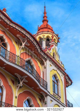 Oradea, Romania - January 27, 2018: Detail From Hotel Astoria (former Sztarill Palace) Located In Fe