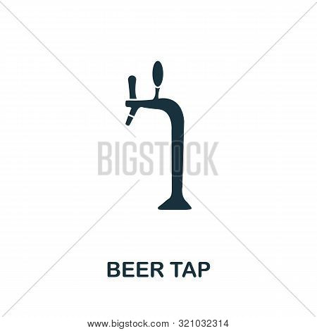Beer Tap Vector Icon Symbol. Creative Sign From Oktoberfest Icons Collection. Filled Flat Beer Tap I