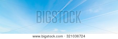 Some Contrails And Blue Sky In Sardinia