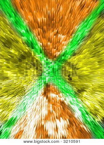 Green, Yellow, And Orange Abstract