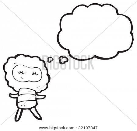 cartoon little cloud head creature poster