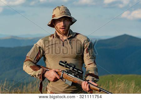 Autumn Hunting Season. Hunting Gear - Hunting Supplies And Equipment. Hunting - Men Hobby. Hunter Wi