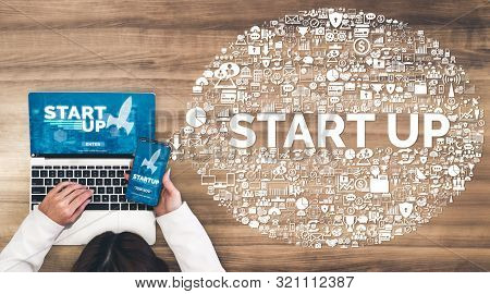Start Up Business Of Creative People Concept