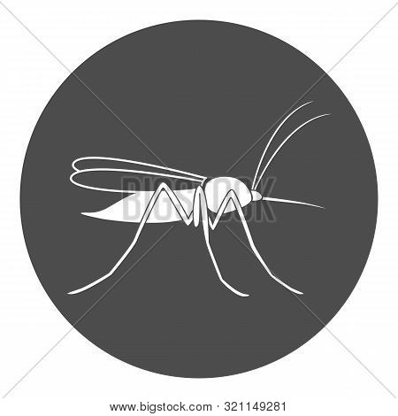 Mosquito Icon. Gnat Symbol. Isolated On White Background. Vector.