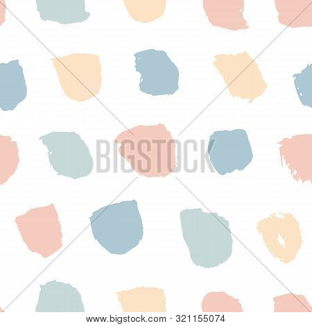 Vector Fashion Brushes Bold Seamless Pattern. Abstract Painted Hand Drawn Colorful Grunge Ink Textur