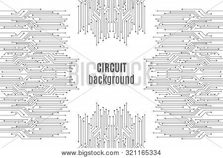 High-tech Technology Background Texture. Circuit Board Minimal Pattern. Science Vector Illustration.