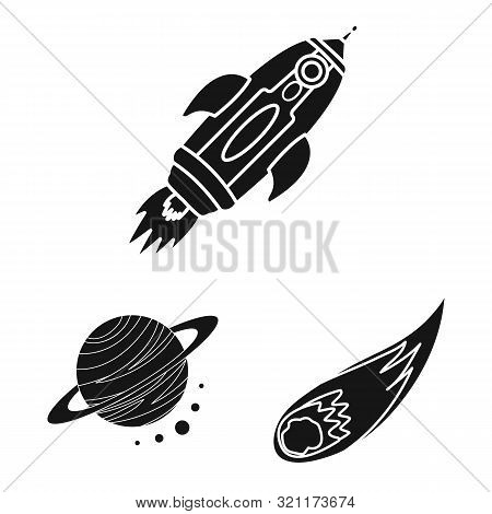 Isolated Object Of Colonization And Sky Icon. Collection Of Colonization And Galaxy Stock Symbol For