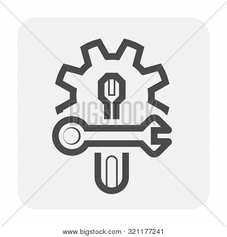 Config Or Setting Vector Icon Design On White Background.