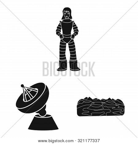 Vector Illustration Of Colonization And Sky Symbol. Collection Of Colonization And Galaxy Vector Ico