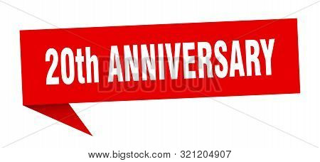 20th Anniversary Speech Bubble. 20th Anniversary Sign. 20th Anniversary Banner