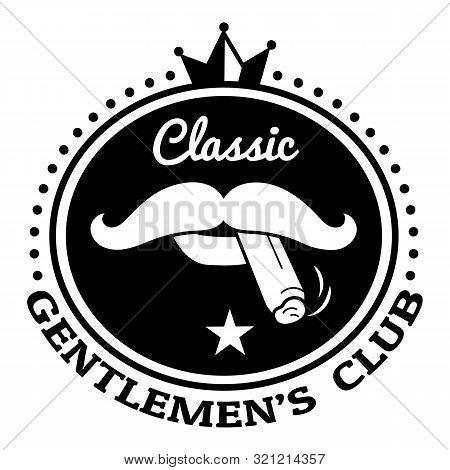 Classic Gentlemen Club Logo. Simple Illustration Of Classic Gentlemen Club Vector Logo For Web Desig