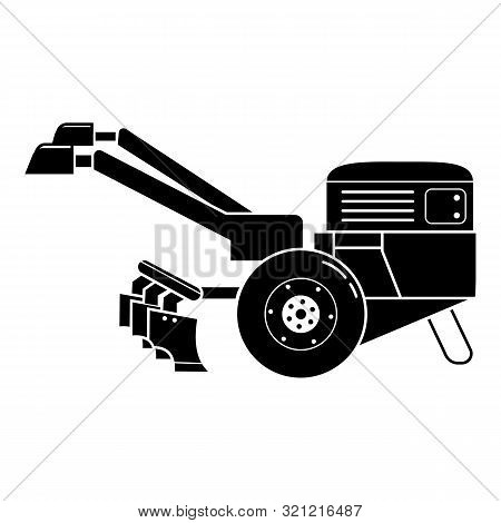 Walk-behind Tractor Icon. Simple Illustration Of Walk-behind Tractor Vector Icon For Web Design Isol