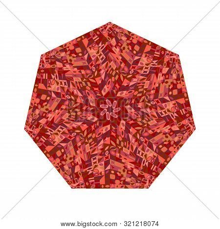 Mosaic Pattern Heptagon Symbol - Colorful Heptagonal Geometrical Vector Element