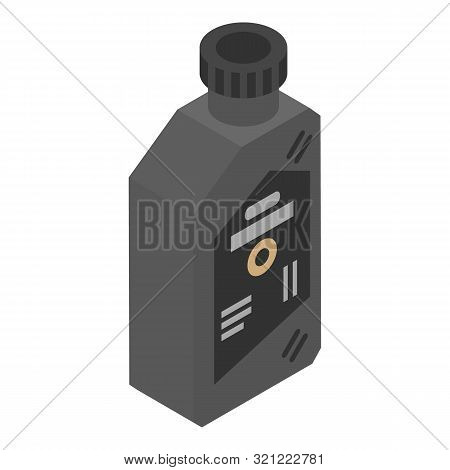 Lubricant Bottle Icon. Isometric Of Lubricant Bottle Vector Icon For Web Design Isolated On White Ba