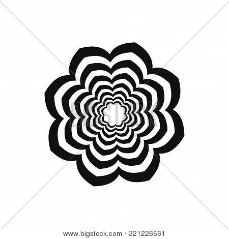 Baroque Style Greek Vector Mandala Pattern. Tribal Black And White Floral Background. Ancient Ethnic