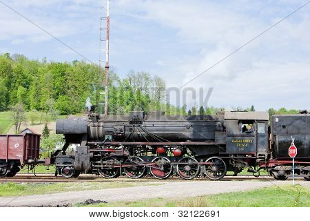 steam locomotive in Tuzla region, Bosnia and Hercegovina