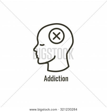 Drug And Alcohol Dependency Icon Showing Drug Addiction Imagery