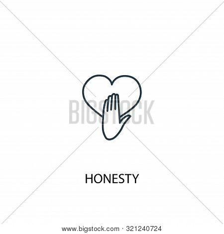 Honesty Concept Line Icon. Simple Element Illustration. Honesty Concept Outline Symbol Design. Can B