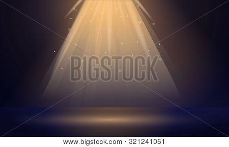 Spotlight Concept Banner. Cartoon Illustration Of Spotlight Vector Concept Banner For Web Design