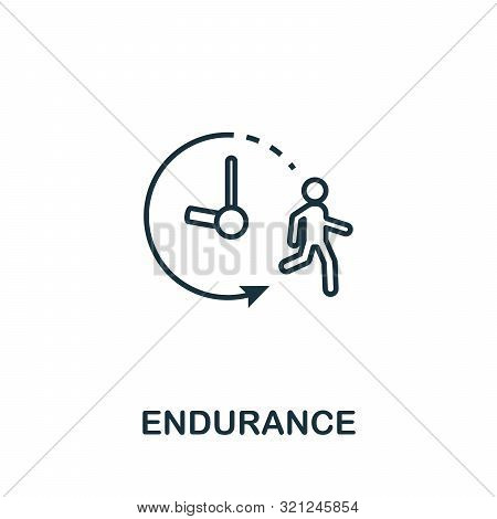 Endurance Icon. Thin Outline Style Design From Fitness Icons Collection. Creative Endurance Icon For