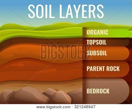 Soil Ground Land Infographic. Cartoon Of Soil Ground Land Vector Infographic For Web Design
