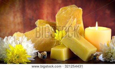 Honey Bees Related Product, Slabs And Blocks Of Beeswax, Cera Alba.