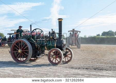 Blandford Forum.dorset.united Kingdom.august 24th 2019. Ransomes Sims And Jefferies Traction Engine