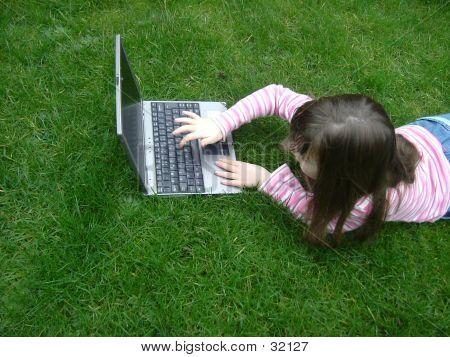 Enjoying With Laptop