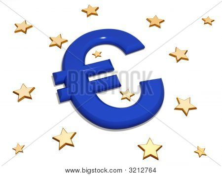 Euro In The Middle Of Stars
