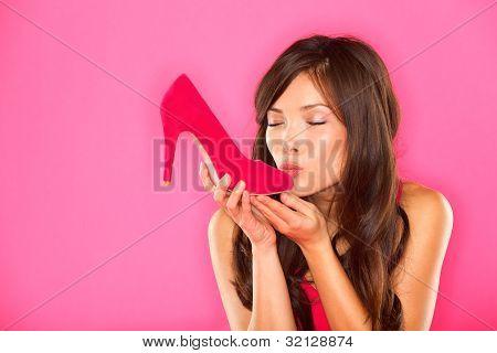 Woman Kissing Shoe