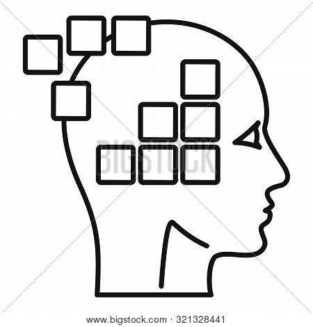 Forget Memory Alzheimer Icon. Outline Forget Memory Alzheimer Vector Icon For Web Design Isolated On