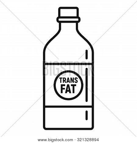 Fat Bottle Milk Icon. Outline Fat Bottle Milk Vector Icon For Web Design Isolated On White Backgroun