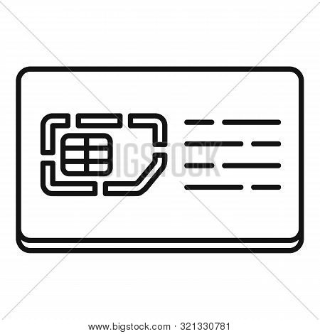 Mobile Sim Card Icon. Outline Mobile Sim Card Vector Icon For Web Design Isolated On White Backgroun