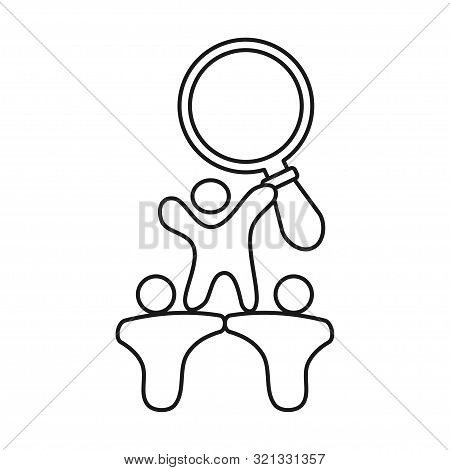 Search Magnify People Commitment Teamwork Together Outline Logo