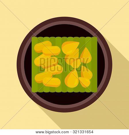 Thai Food Seeds Icon. Flat Illustration Of Thai Food Seeds Vector Icon For Web Design