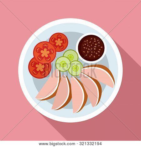 Thai Food Vegetables Icon. Flat Illustration Of Thai Food Vegetables Vector Icon For Web Design