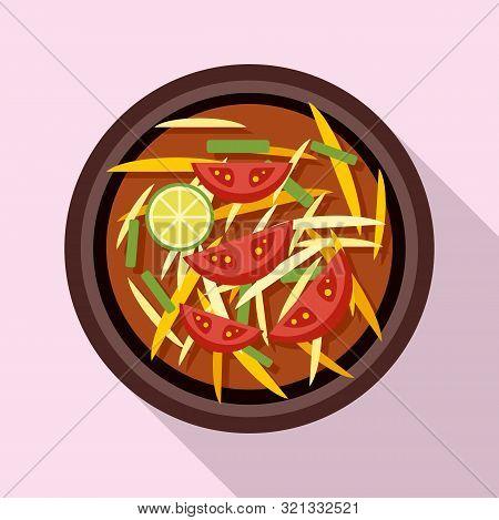 Thai Food Tomato Soup Icon. Flat Illustration Of Thai Food Tomato Soup Vector Icon For Web Design