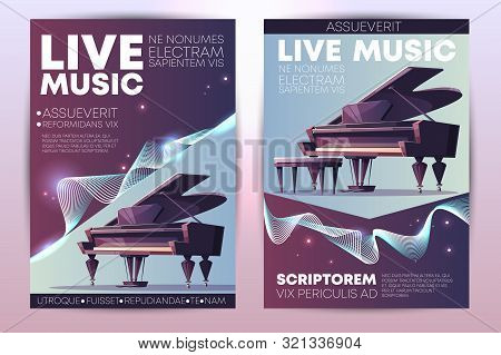 Classical Or Jazz Music Festival, Symphonic Orchestra Live Concert, Piano Virtuoso Performance Moder