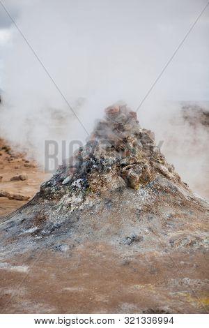 Fumarole Field In Namafjall Geothermal Area