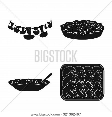 Vector Design Of Variety And Ingredient Logo. Collection Of Variety And Food Stock Symbol For Web.