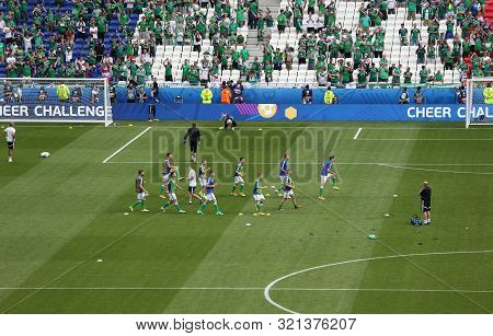 Lyon, France - June 16, 2016: Training Session Of Northern Ireland National Football Team Players Be