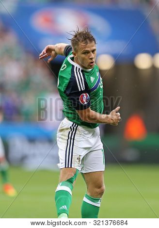 Lyon, France - June 16, 2016: Jamie Ward Of Northern Ireland In Action During Uefa Euro 2016 Game Ag